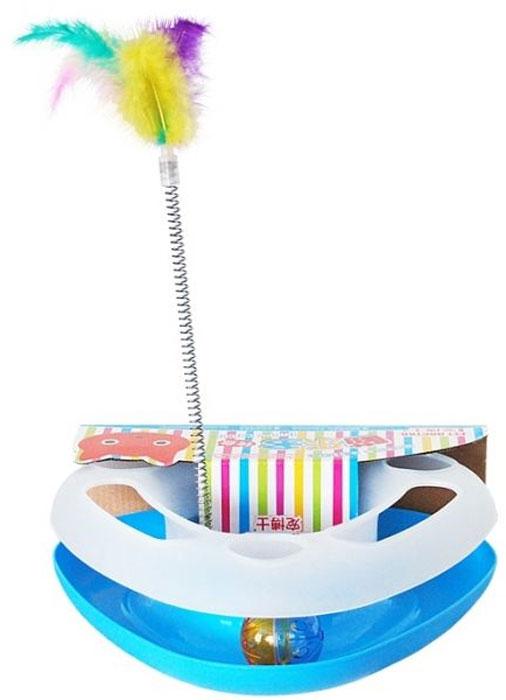 Игрушка для кошек №1 Лабиринт, с дразнилкой игрушка для кошек 1 лабиринт с двумя мячиками и дразнилкой цвет серый 28 x 5 x 28 см