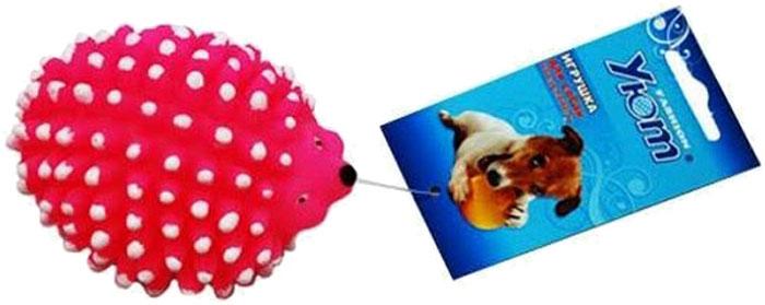 Игрушка для собак Уют Ежик, цвет в ассортименте, 10 x 7,5 x 6 см игрушка для собак уют кеды цвет салатовый 10 x 5 x 4 см