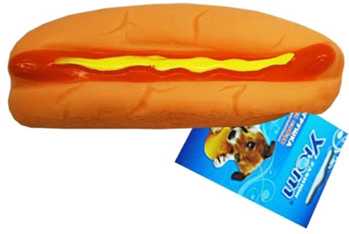 Игрушка для собак Уют Хот-дог, 14 x 4 x 3,5 см игрушка для собак уют кеды цвет салатовый 10 x 5 x 4 см