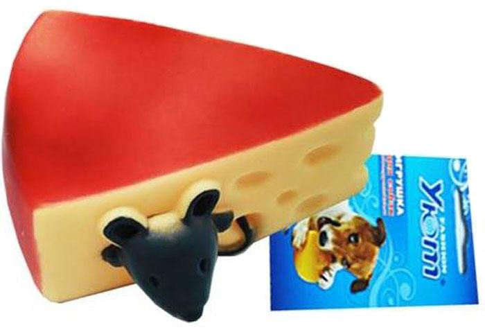 Игрушка для собак Уют Сыр с мышкой, 11 x 5 см игрушка для собак уют кеды цвет салатовый 10 x 5 x 4 см