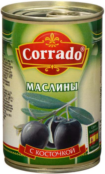 Corrado маслины с косточкой, 300 г цена в Москве и Питере