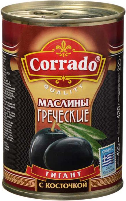 Corrado маслины гигант с косточкой, 425 г цена в Москве и Питере