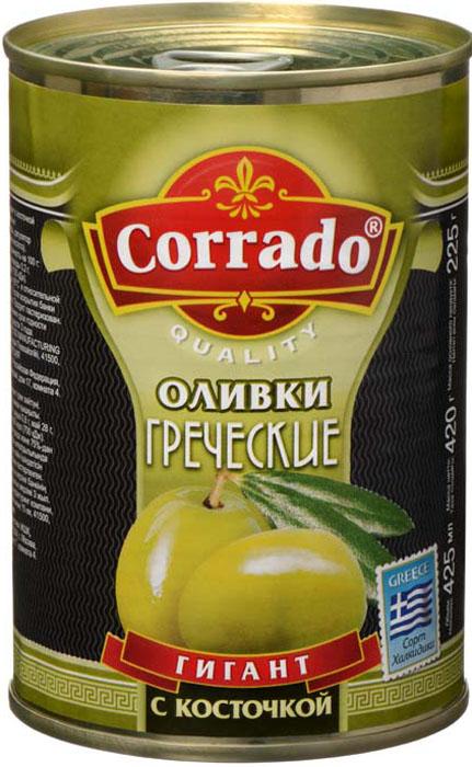 Corrado оливки гигант с косточкой, 425 г цена в Москве и Питере