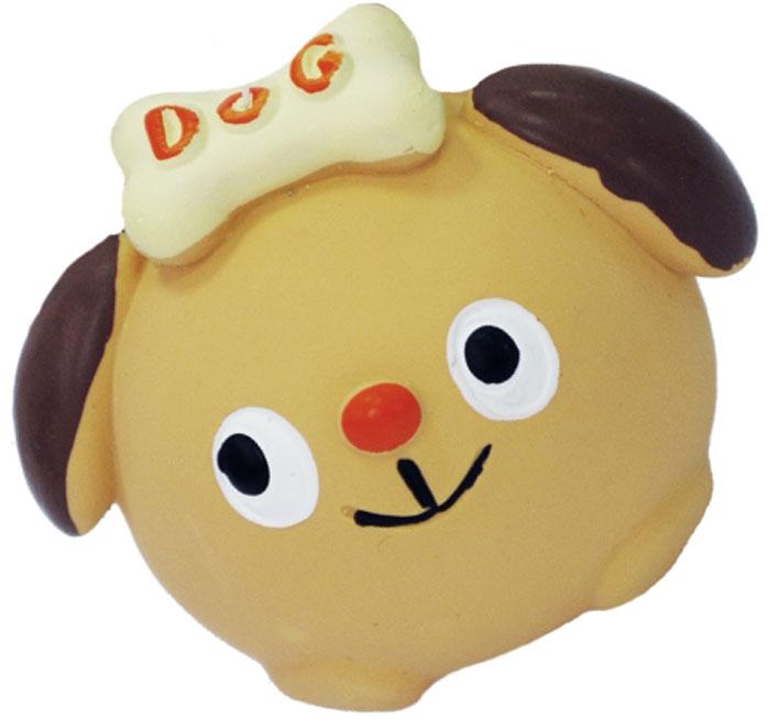 Игрушка для собак №1 Собачка с бантом, с пищалкой, 7 см игрушка для собак 1 утенок с пищалкой 5 см