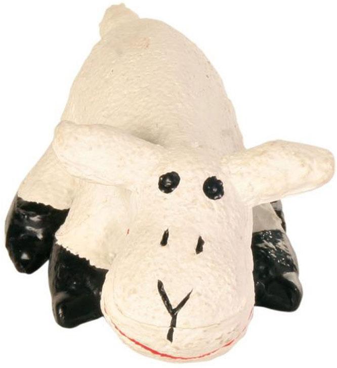 Игрушка для собак №1 Мохнатая овечка, с пищалкой, 10 см игрушка для собак 1 утенок с пищалкой 5 см