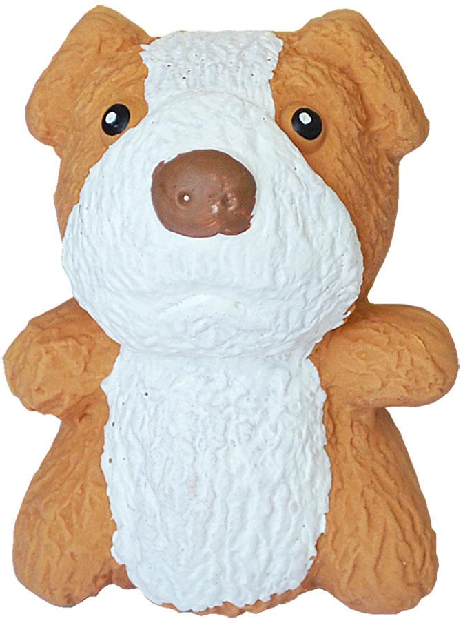 Игрушка для собак №1 Мохнатый сидящий щенок, с пищалкой, 10 см игрушка для собак 1 утенок с пищалкой 5 см