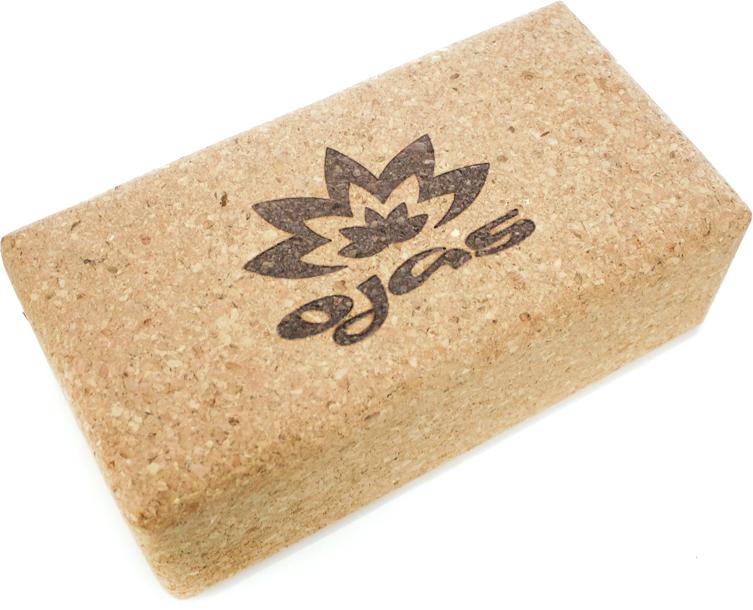 Блок опорный для йоги Ojas Natural Cork, 23 х 12 х 7,5 см цена