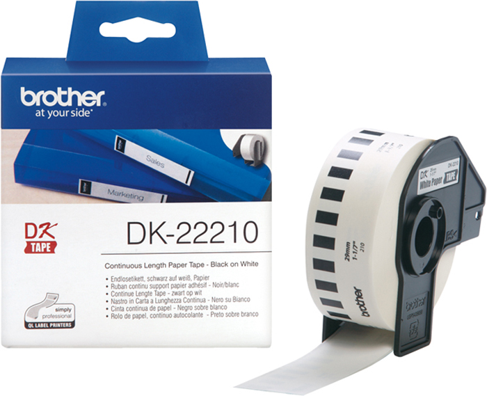 Brother DK22210, White лента для матричного принтера 29 мм