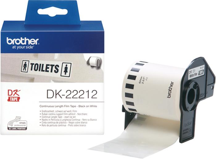 Brother DK22212, White лента для матричного принтера 62 мм
