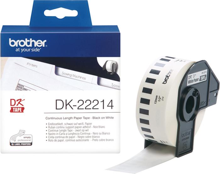 Brother DK22214, White лента для матричного принтера 12 мм