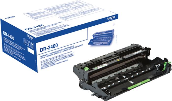 Фотобарабан Brother DR3400 для HL-L5000D/5100DN/5200DW/6300DW/6400DW/6400DWT/DCP-L5500DN/6600DW/MFC-L5700DN/5750DW/6800DW/6900DW, Black