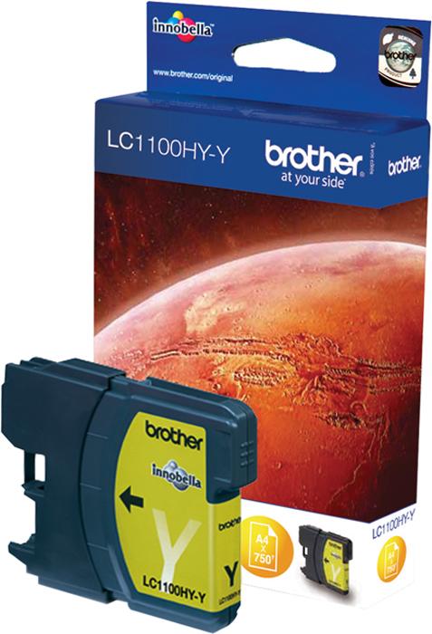 Картридж Brother LC1100HYY, желтый, для струйного принтера цены онлайн