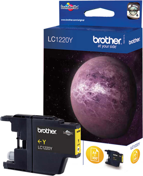 Brother LC1220Y, Yellow картридж для Brother DCP-J525W/MFC-J430W/MFC-J825DW снпч brother mfc j6910dw