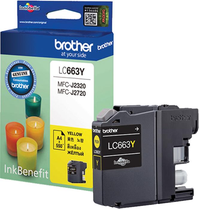 Brother LC663Y, Yellow картридж для Brother MFC-J2320/MFC-J2720 картридж brother lc663bk для brother mfc j2320 j2720 черный