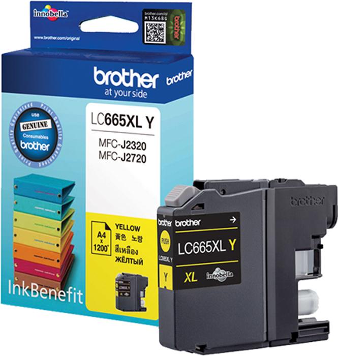 Brother LC665XLY, Yellow картридж для Brother MFC-J2320/MFC-J2720 картридж brother lc663bk для brother mfc j2320 j2720 черный