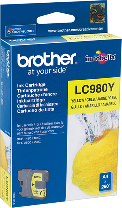 Brother LC980Y, Yellow картридж для Brother DCP-145C/DCP-165C/DCP-195C/DCP-375CW/MFC-250C brother artwork 22