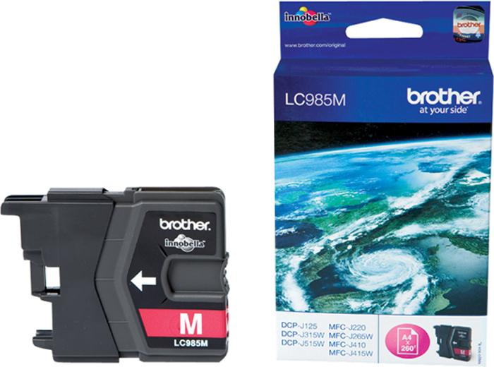 Картридж Brother LC985M, пурпурный, для струйного принтера