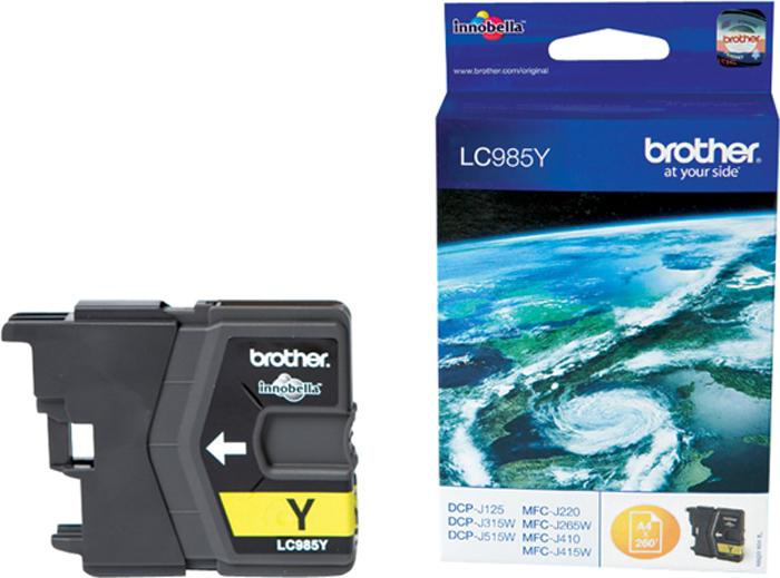 Brother LC985Y, Yellow картридж для Brother DCP-J315W/DCP-J515W/MFC-J265W картридж brother lc1000y для brother dcp 130 330 70950 желтый