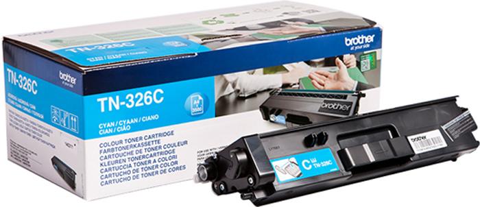 Картридж Brother TN326C, голубой, для лазерного принтера картридж brother tn 3030 для hl 51хх series mfc 8440 8840 3500стр