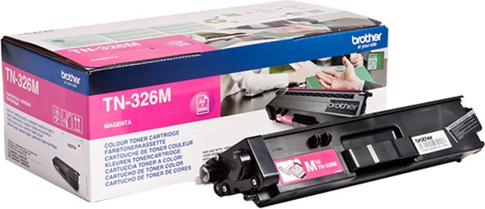 Картридж Brother TN326M, пурпурный, для лазерного принтера картридж brother tn 3030 для hl 51хх series mfc 8440 8840 3500стр