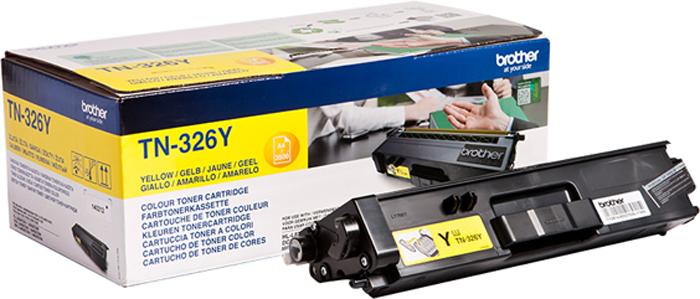 Картридж Brother TN326Y, желтый, для лазерного принтера картридж brother tn 3030 для hl 51хх series mfc 8440 8840 3500стр
