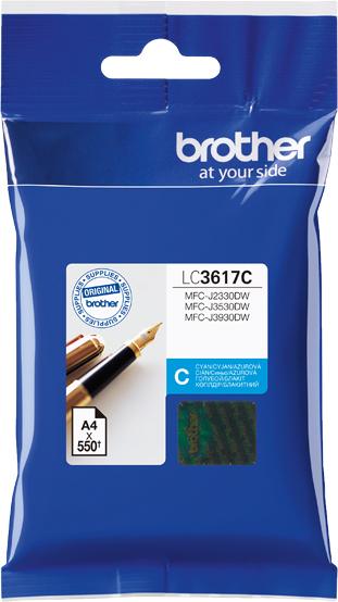 Brother LC3617C, Cyan картридж для Brother MFC-J3530DW/J3930DW картридж brother lc3619xlc голубой cyan 1500стр для brother mfc j3530dw j3930dw