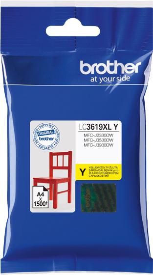 Brother LC3619XLY, Yellow картридж для Brother MFC-J3530DW/J3930DW картридж brother lc3619xlc голубой cyan 1500стр для brother mfc j3530dw j3930dw