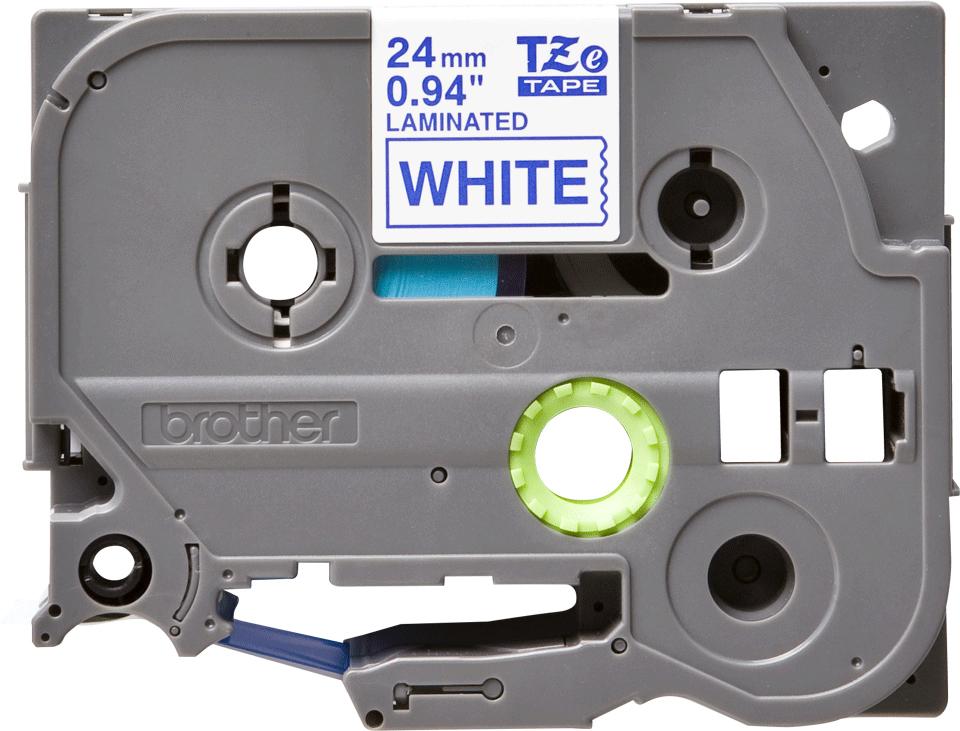 Brother TZE253, White Blue лента для матричного принтера 24 мм