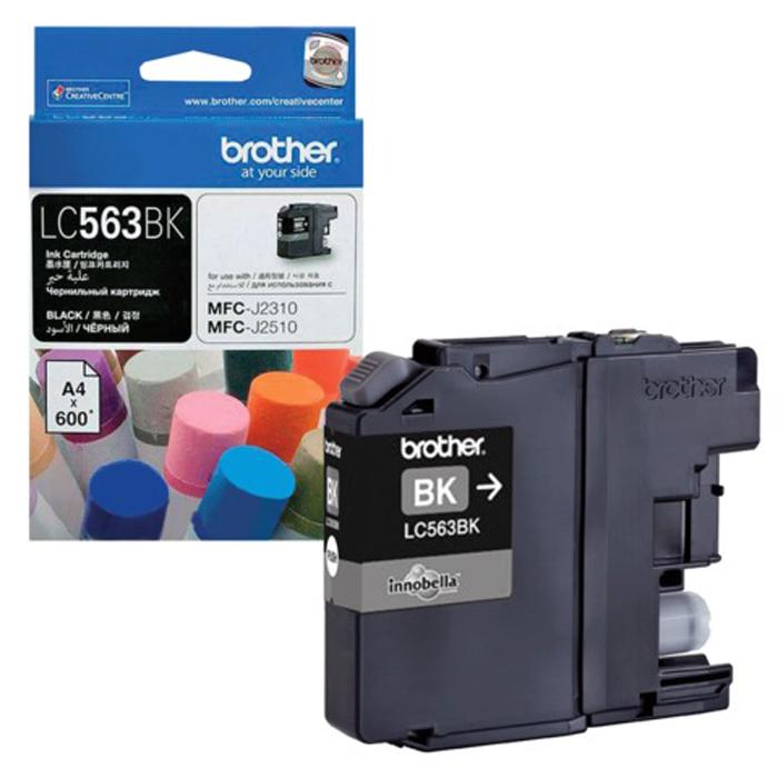 Картридж Brother LC563BK, черный, для струйного принтера цена в Москве и Питере