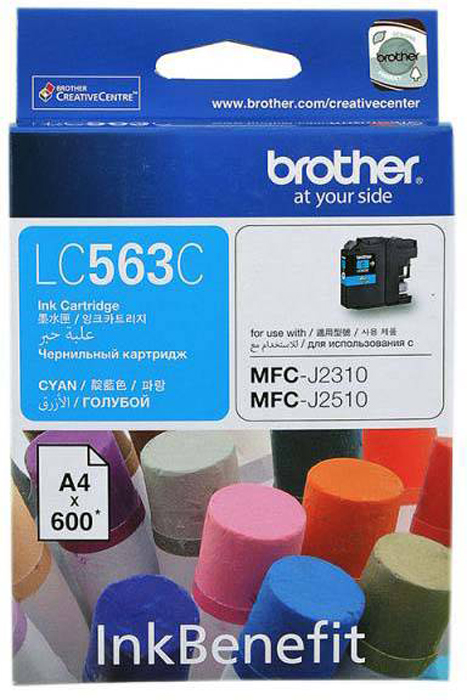 Brother LC563C, Cyan картридж для Brother MFC-J2310, MFC-J2510, MFC-J3520, MFC-J3720 снпч brother mfc j6910dw
