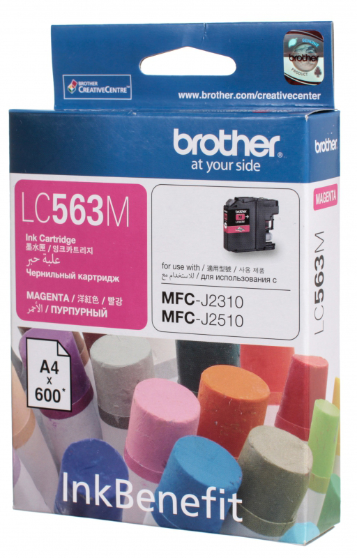 Brother LC563M, Magenta картридж для Brother MFC-J2310, MFC-J2510, MFC-J3520, MFC-J3720 снпч brother mfc j6910dw