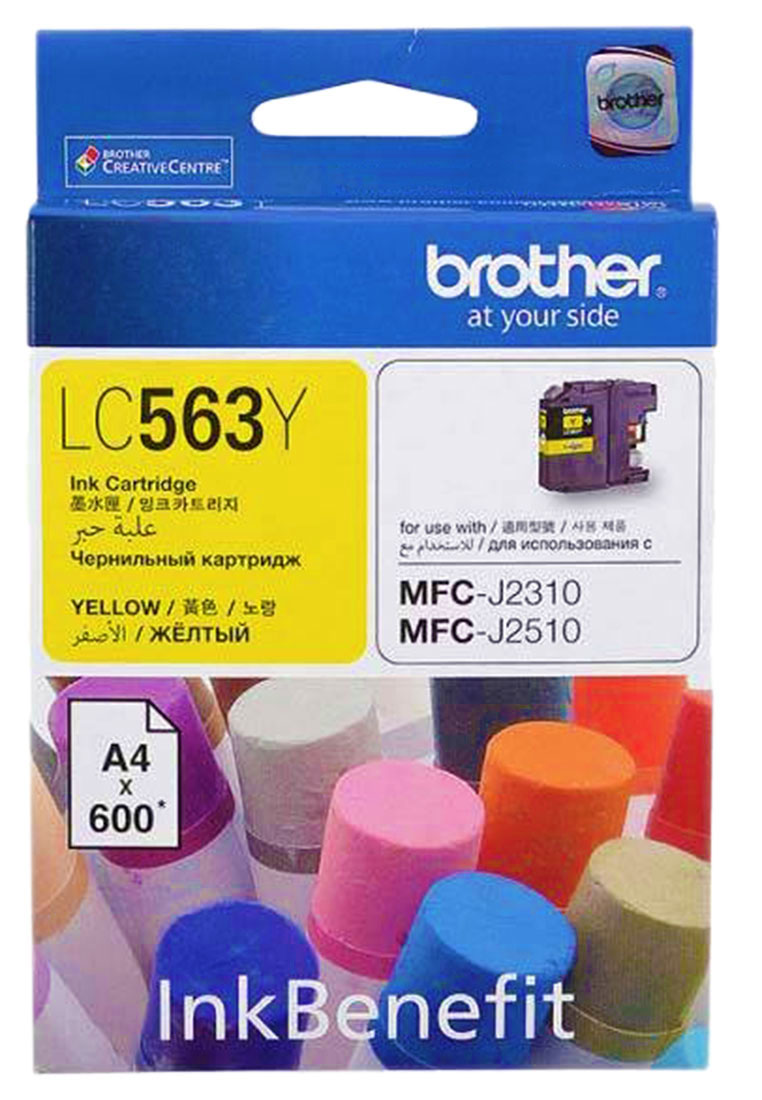 Brother LC563Y, Yellow картридж для Brother MFC-J2310, MFC-J2510, MFC-J3520, MFC-J3720 снпч brother mfc j6910dw