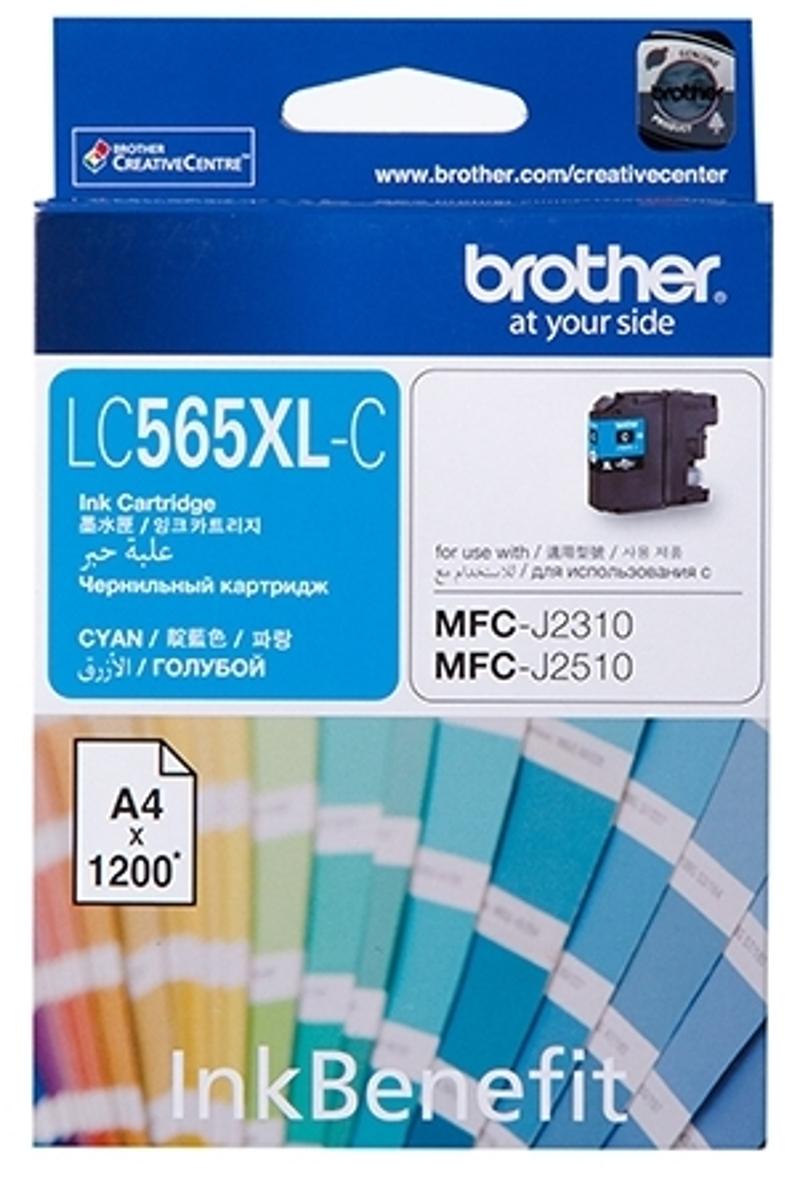 Картридж Brother LC565XLC, голубой, для струйного принтера цена в Москве и Питере