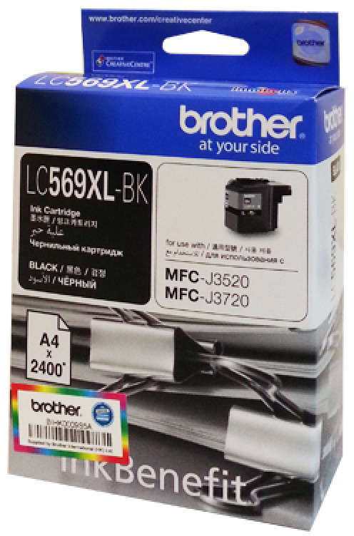 Brother LC569XLBK, Black картридж для Brother MFC-J3520/MFC-J3720 снпч brother mfc j6910dw