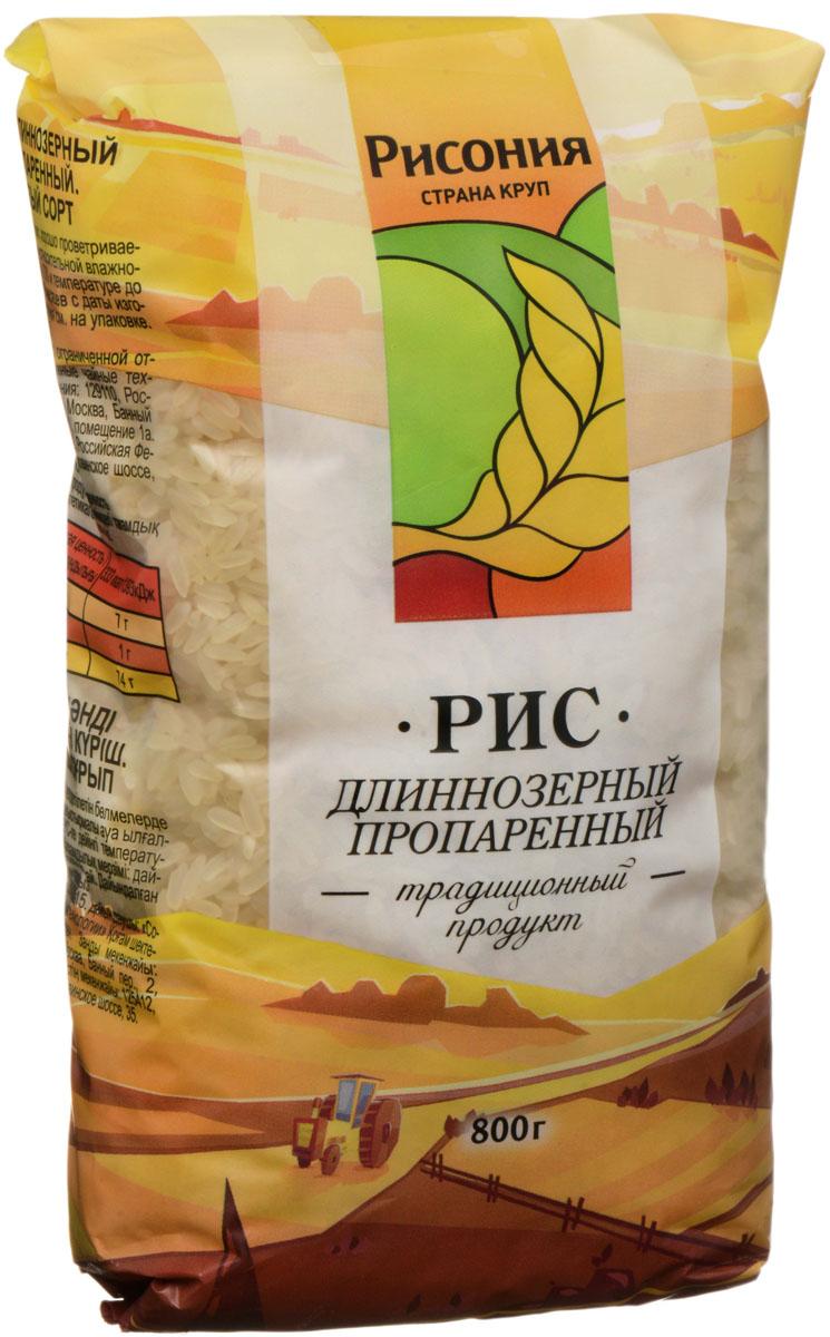Рисония Рис длиннозерный пропаренный 1 сорт, 800 г националь рис длиннозерный пропаренный золотистый 900 г