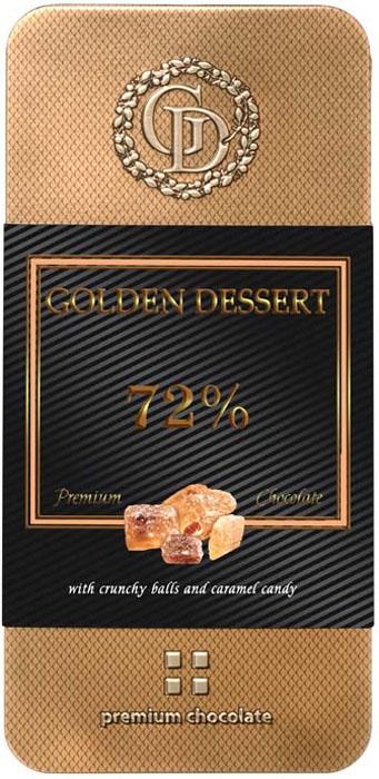 Golden Dessert шоколад горький 72% какао-продуктов с хрустящими шариками и леденцовой карамелью, 95 г uni t ut203 ut 203 digital clamp multimeter 3 3 4 ohm dmm dc ac current voltmeter 40a 400a