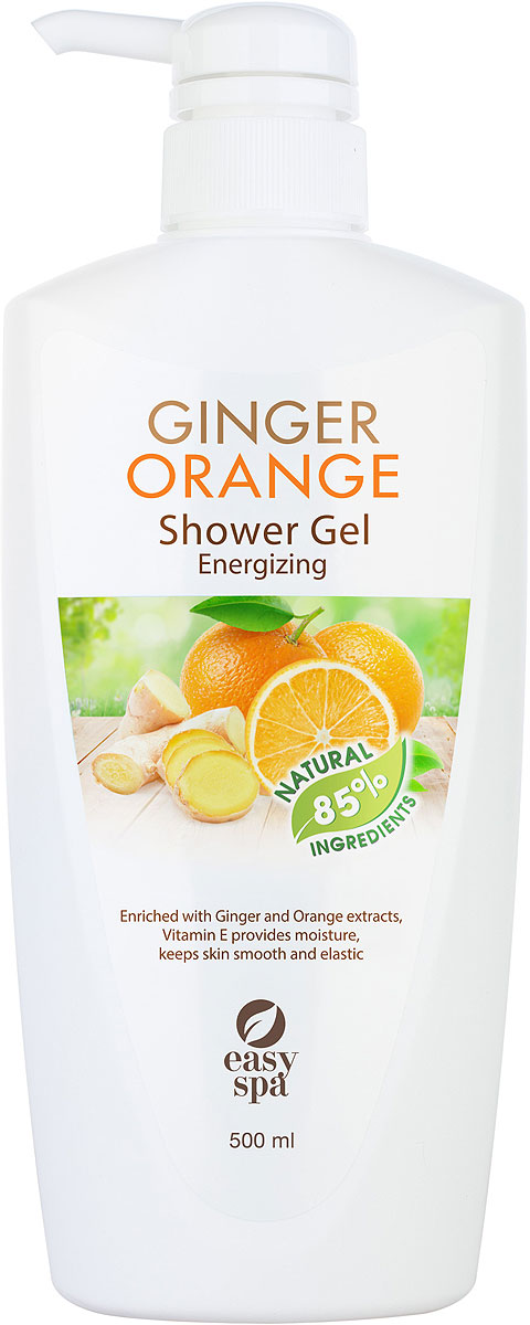 Easy Spa Гель для душа заряжающий энергией Ginger Orange, 500 мл sexus crystal orange anal 60 мл анальная гель смазка с ароматом апельсина