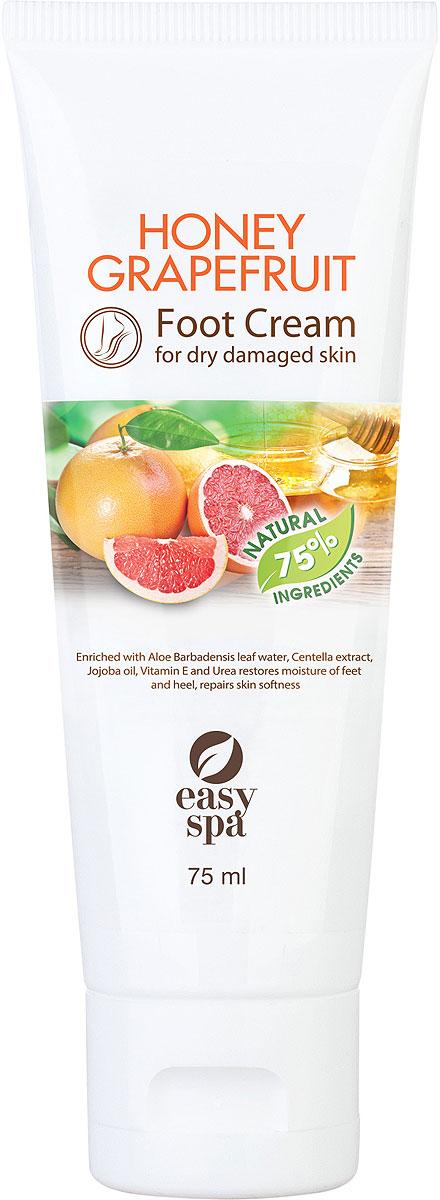 Easy Spa Крем для стоп для сухой и поврежденной кожи Honey Grapefruit, 75 мл крема для сухой кожи