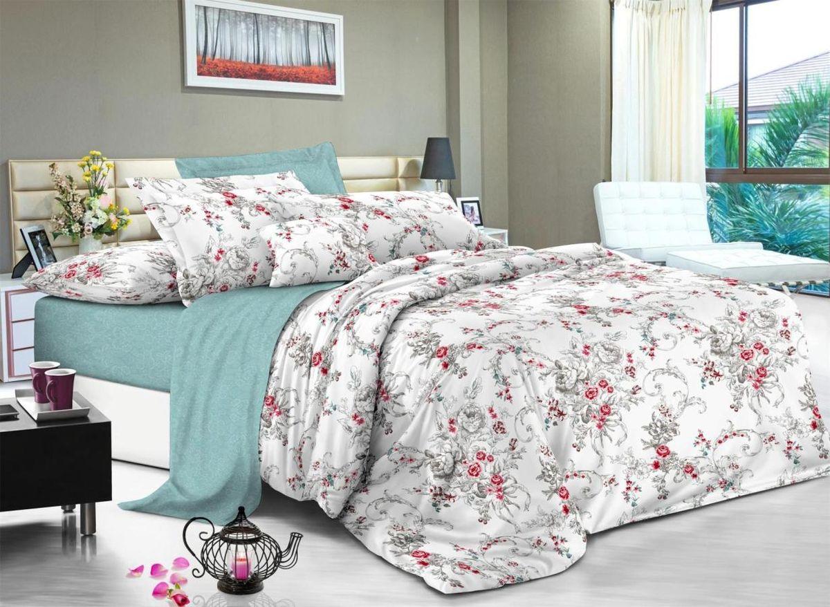"""Комплект белья """"Soft Line"""", 1,5 спальное, наволочки 50x70, цвет: мультиколор. 6104"""