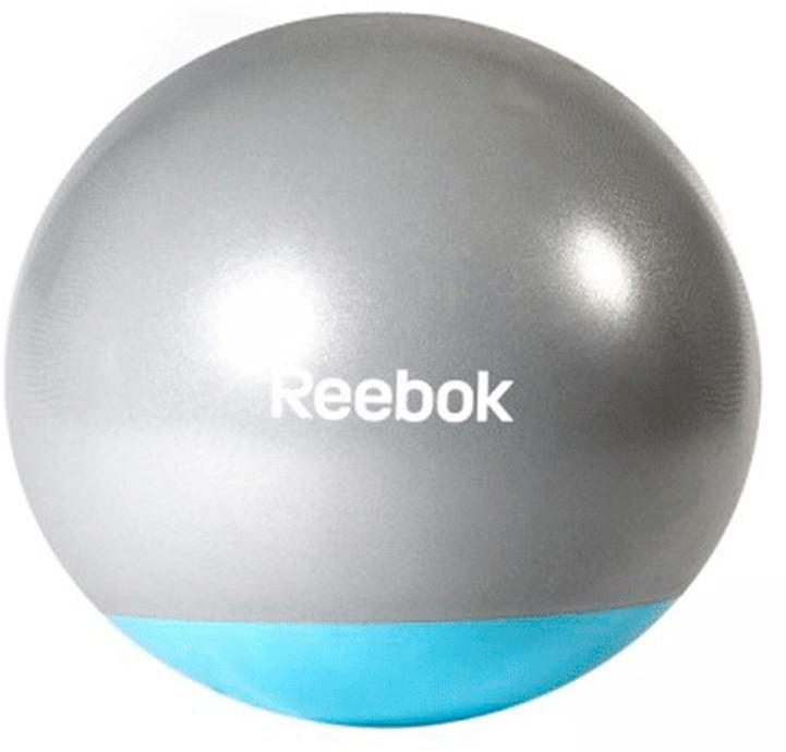 Мяч гимнастический Reebok Gymball Two Tone, антивзрыв, цвет: серый, голубой, диаметр 55 см мяч reebok two tone rab 40016bl