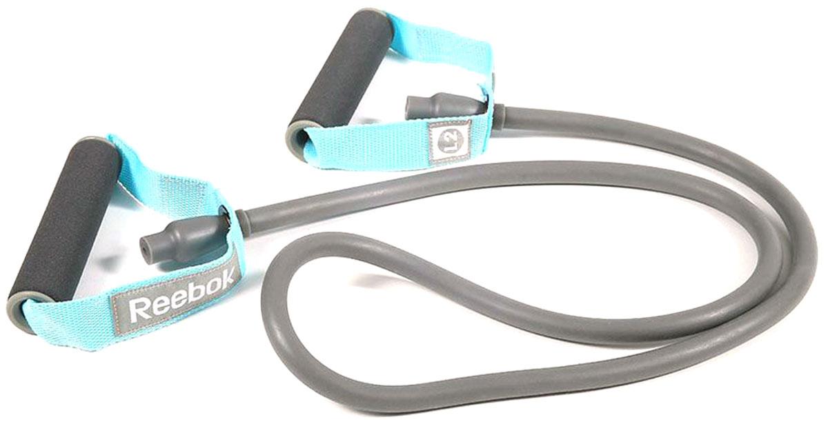 Эспандер трубчатый Reebok Heavy, сильное сопротивлениеRATB-11032BLЭтот эспандер удобно держать в сумке или в рабочем столе, чтобы тренироваться, когда выдается свободная минута. Удобные ручки позволят делать упражнения как для верхней, так и для нижней части тела. Удобные ручки для комфорта. Благодаря функциональному дизайну ручек с помощью эспандера удобно тренировать мышцы как верхней, так и нижней части тела