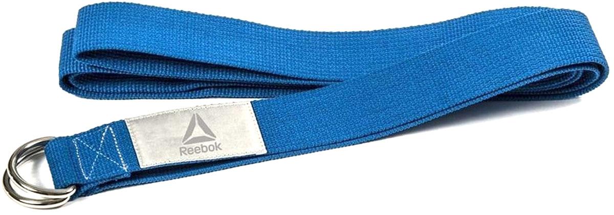 """Ремень для йоги """"Reebok"""", цвет: синий, 2,5 м х 4,8 см"""