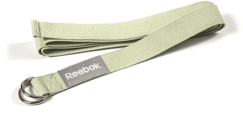 """Ремень для йоги """"Reebok"""", цвет: зеленый, 2,5 м х 4,8 см"""