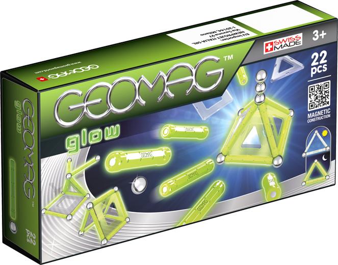 Geomag Конструктор магнитный Glow 22 элемента