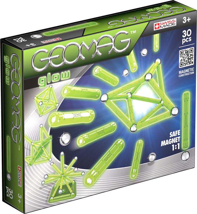 Geomag Конструктор магнитный Glow 30 элементов