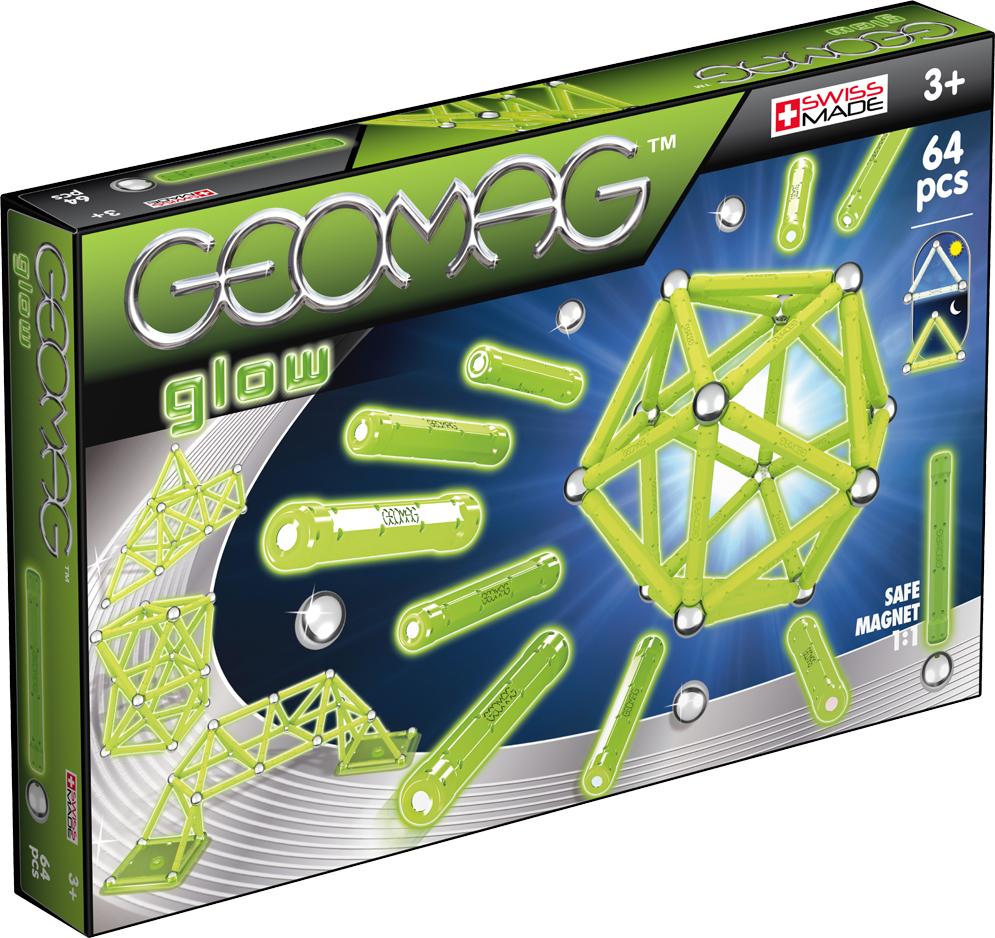 Geomag Конструктор магнитный Glow 64 элемента