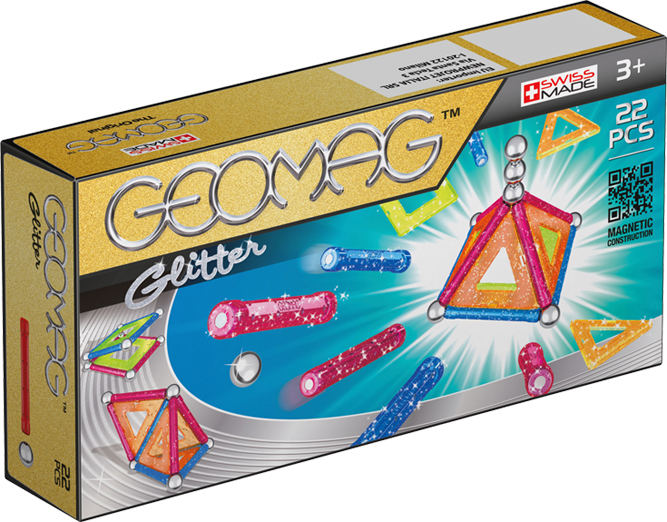 Geomag Конструктор магнитный Glitter 22 элемента