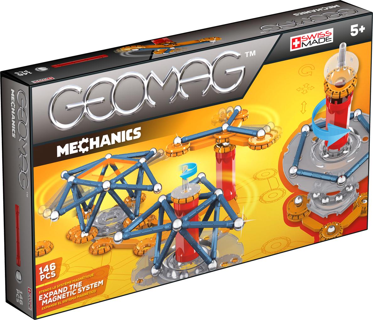 Geomag Конструктор магнитный Mechanics 146 элементов