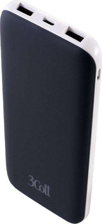 3Cott 3C-PB-100TC, Black внешний аккумулятор (10000 мАч) аккумулятор для ибп 3cott 12v 4 5ah 5 star series 3c 1245 5s