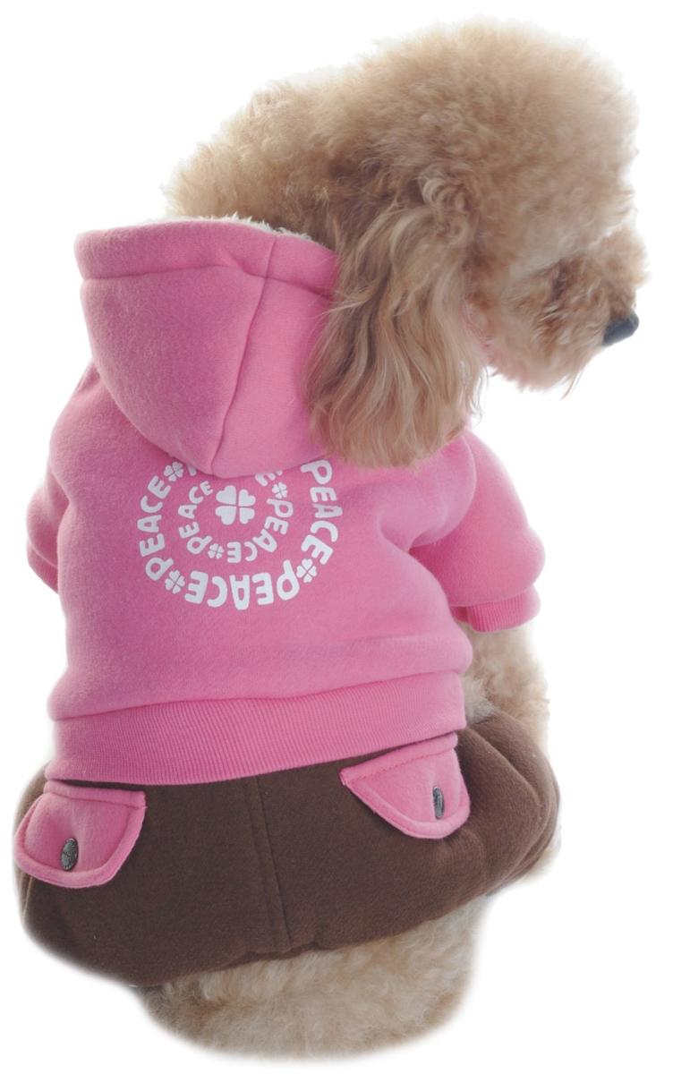 Комбинезон для собак Dobaz, утепленный, цвет: розовый, коричневый. ДА1123БХХЛ. Размер XXL жилет утепленный olmi м 327 серебро 40 158 40 158 80 размер